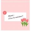 Tarjeta imprimible para el día de las madres
