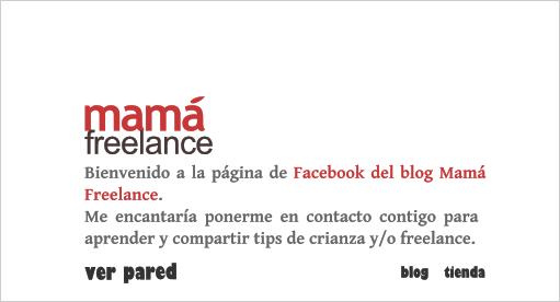 Página de entrada de Mamá Freelance en Facebook