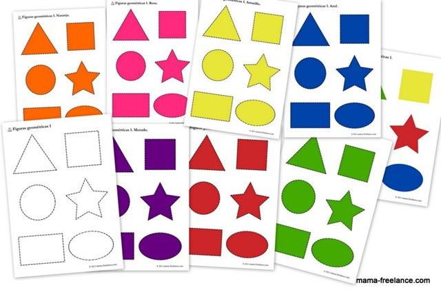 Plantillas de figuras geométricas para imprimir | Mamá freelance